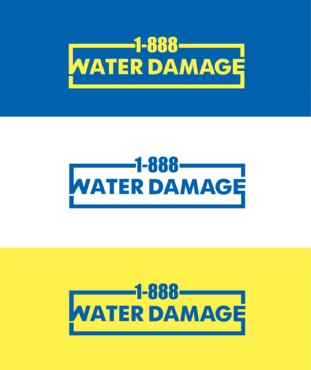 1-888-Water-Damage A Logo, Monogram, or Icon  Draft # 82 by B4BEST