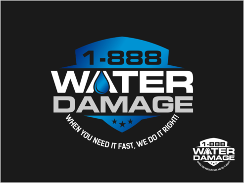 1-888-Water-Damage A Logo, Monogram, or Icon  Draft # 84 by thebullet