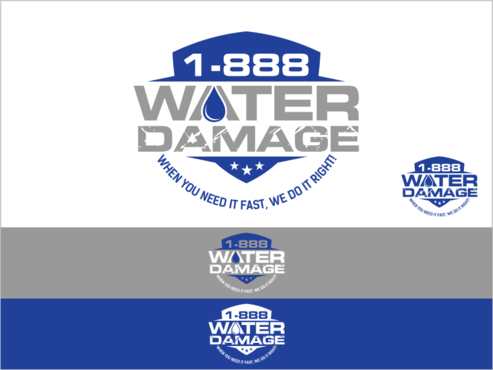 1-888-Water-Damage A Logo, Monogram, or Icon  Draft # 85 by thebullet