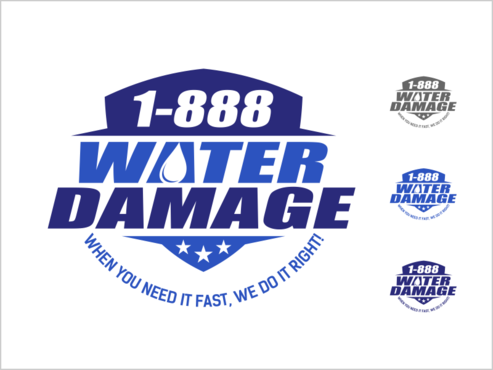 1-888-Water-Damage A Logo, Monogram, or Icon  Draft # 86 by thebullet