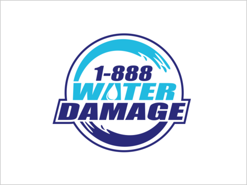 1-888-Water-Damage A Logo, Monogram, or Icon  Draft # 87 by thebullet