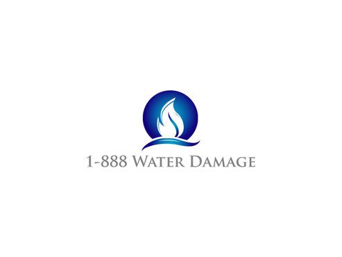 1-888-Water-Damage A Logo, Monogram, or Icon  Draft # 89 by inzdesign