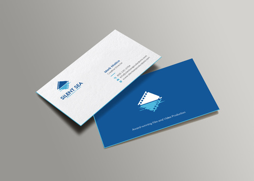 Silent Sea Productions Business Cards and Stationery  Draft # 6 by Xpert