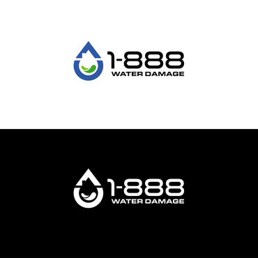 1-888-Water-Damage A Logo, Monogram, or Icon  Draft # 114 by inzdesign