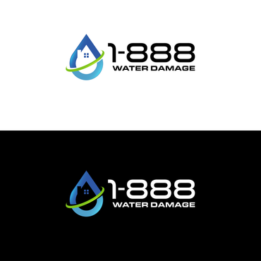 1-888-Water-Damage A Logo, Monogram, or Icon  Draft # 115 by inzdesign