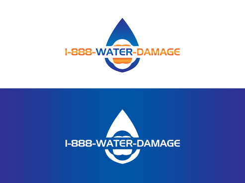 1-888-Water-Damage A Logo, Monogram, or Icon  Draft # 127 by Forceman786