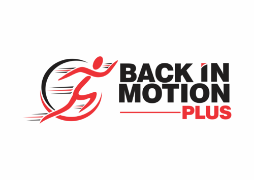Back In Motion Plus Logo Winning Design by purplepatch
