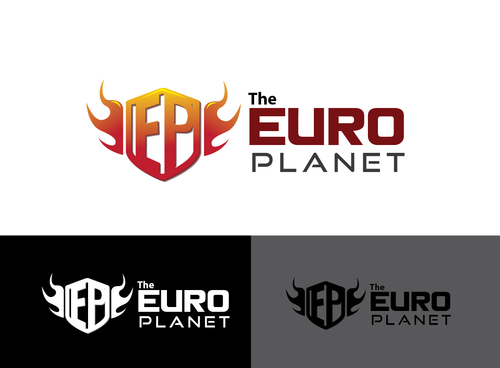 The Euro Planet A Logo, Monogram, or Icon  Draft # 4 by Adwebicon