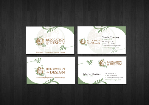 Business card for senior move management company Business Cards and Stationery  Draft # 4 by zenko