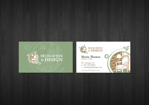 Business card for senior move management company Business Cards and Stationery  Draft # 6 by zenko