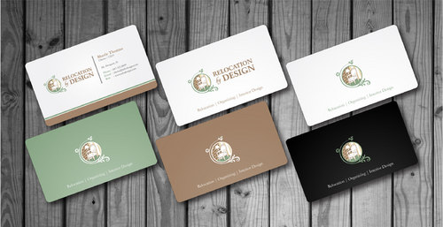 Business card for senior move management company Business Cards and Stationery  Draft # 7 by Hazik