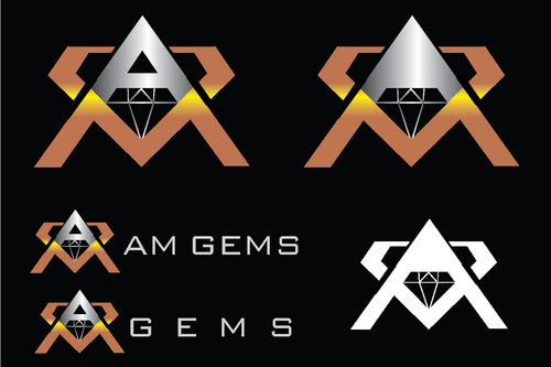 AM Gems A Logo, Monogram, or Icon  Draft # 118 by TheTanveer