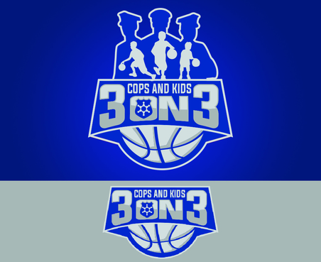 Design by waffle For Logo for Cop & Kids 3 on 3 Basketball Tournament