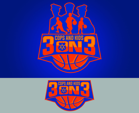 Cops & Kids 3 on 3  A Logo, Monogram, or Icon  Draft # 8 by waffle