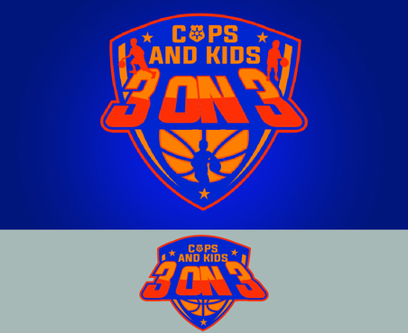 Cops & Kids 3 on 3  A Logo, Monogram, or Icon  Draft # 9 by waffle