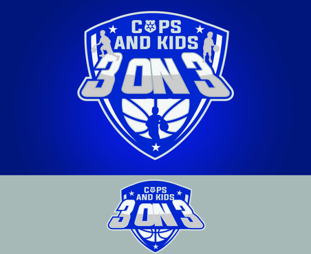 Cops & Kids 3 on 3  A Logo, Monogram, or Icon  Draft # 11 by waffle