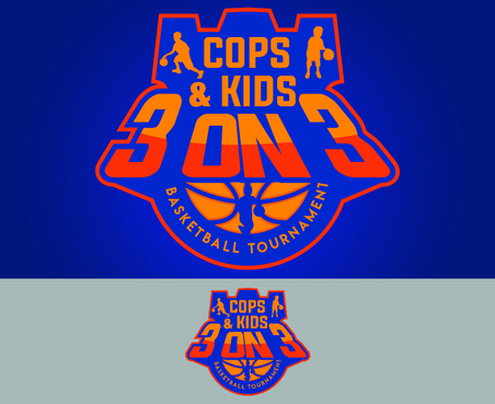 Cops & Kids 3 on 3  A Logo, Monogram, or Icon  Draft # 13 by waffle