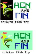 Hen and Fin A Logo, Monogram, or Icon  Draft # 66 by TheTanveer