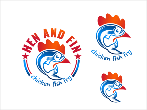 Hen and Fin A Logo, Monogram, or Icon  Draft # 93 by thebullet
