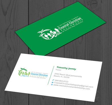 Coastal Christian Fellowship of Seventh-day Adventist Business Cards and Stationery  Draft # 99 by YADESIGN
