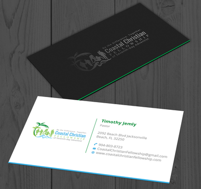 Coastal Christian Fellowship of Seventh-day Adventist Business Cards and Stationery  Draft # 100 by YADESIGN