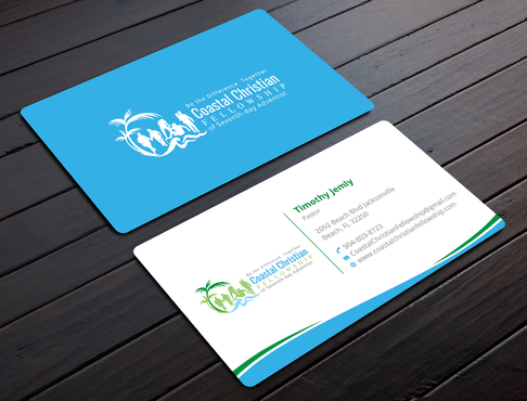 Coastal Christian Fellowship of Seventh-day Adventist Business Cards and Stationery  Draft # 101 by YADESIGN