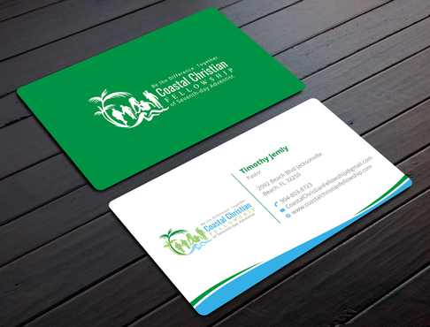 Coastal Christian Fellowship of Seventh-day Adventist Business Cards and Stationery  Draft # 102 by YADESIGN