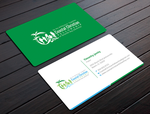 Coastal Christian Fellowship of Seventh-day Adventist Business Cards and Stationery  Draft # 103 by YADESIGN