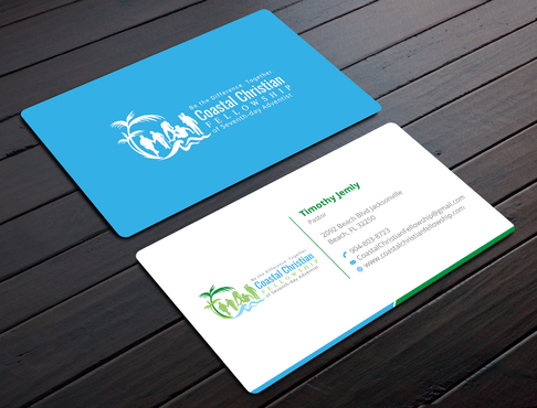 Coastal Christian Fellowship of Seventh-day Adventist Business Cards and Stationery  Draft # 104 by YADESIGN