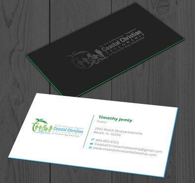 Coastal Christian Fellowship of Seventh-day Adventist Business Cards and Stationery  Draft # 105 by YADESIGN