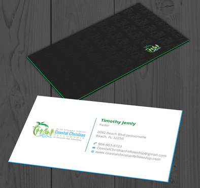 Coastal Christian Fellowship of Seventh-day Adventist Business Cards and Stationery  Draft # 106 by YADESIGN