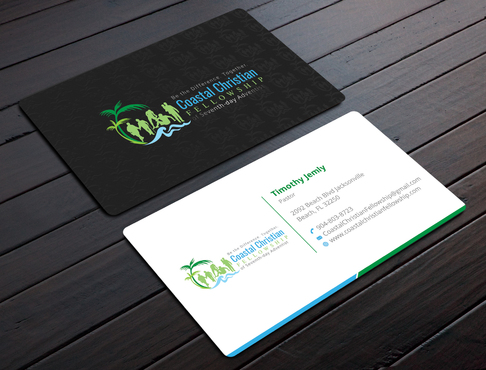 Coastal Christian Fellowship of Seventh-day Adventist Business Cards and Stationery  Draft # 108 by YADESIGN