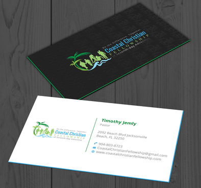 Coastal Christian Fellowship of Seventh-day Adventist Business Cards and Stationery  Draft # 109 by YADESIGN