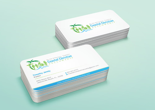 Coastal Christian Fellowship of Seventh-day Adventist Business Cards and Stationery  Draft # 118 by i3designer