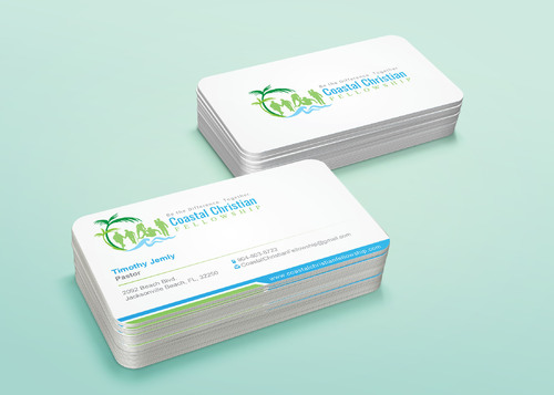 Coastal Christian Fellowship of Seventh-day Adventist Business Cards and Stationery  Draft # 119 by i3designer