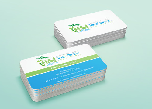 Coastal Christian Fellowship of Seventh-day Adventist Business Cards and Stationery  Draft # 120 by i3designer