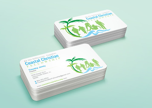 Coastal Christian Fellowship of Seventh-day Adventist Business Cards and Stationery  Draft # 121 by i3designer