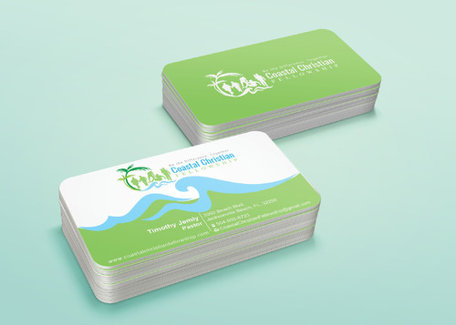 Coastal Christian Fellowship of Seventh-day Adventist Business Cards and Stationery  Draft # 122 by i3designer