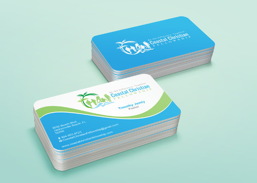 Coastal Christian Fellowship of Seventh-day Adventist Business Cards and Stationery  Draft # 123 by i3designer