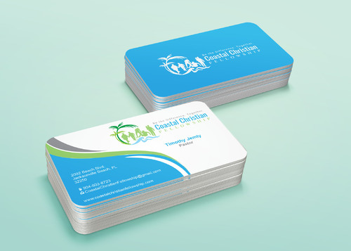Coastal Christian Fellowship of Seventh-day Adventist Business Cards and Stationery  Draft # 124 by i3designer