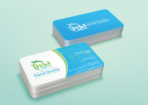 Coastal Christian Fellowship of Seventh-day Adventist Business Cards and Stationery  Draft # 125 by i3designer