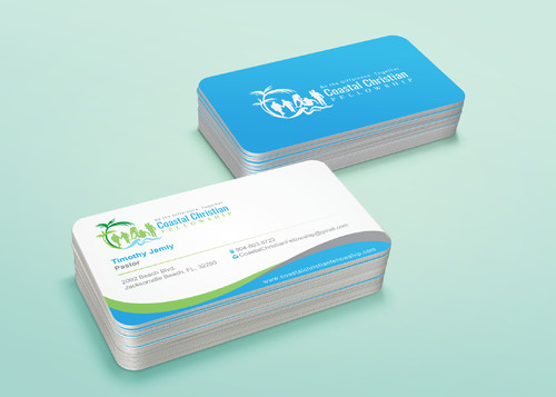 Coastal Christian Fellowship of Seventh-day Adventist Business Cards and Stationery  Draft # 126 by i3designer