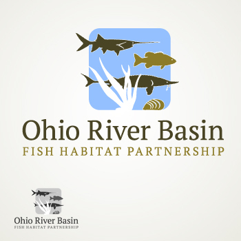 Ohio River Basin Fish Habitat Partnership or ORBFHP A Logo, Monogram, or Icon  Draft # 88 by RikkiRogersDesign