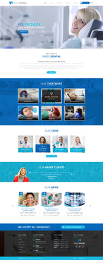 Swiss Dental Web Design  Draft # 3 by FuturisticDesign