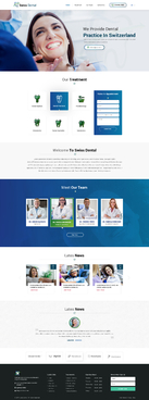 Swiss Dental Web Design  Draft # 5 by FuturisticDesign
