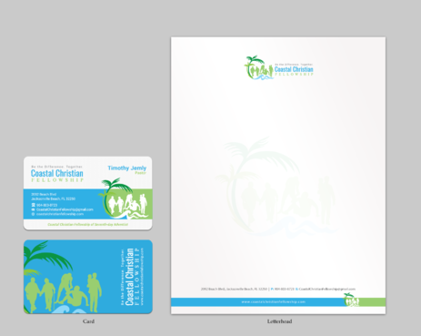 Coastal Christian Fellowship of Seventh-day Adventist Business Cards and Stationery Winning Design by einsanimation