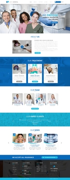 Swiss Dental Web Design  Draft # 60 by FuturisticDesign