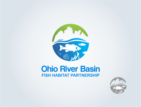 Ohio River Basin Fish Habitat Partnership or ORBFHP A Logo, Monogram, or Icon  Draft # 103 by pepin