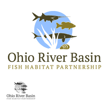 Ohio River Basin Fish Habitat Partnership or ORBFHP A Logo, Monogram, or Icon  Draft # 106 by RikkiRogersDesign