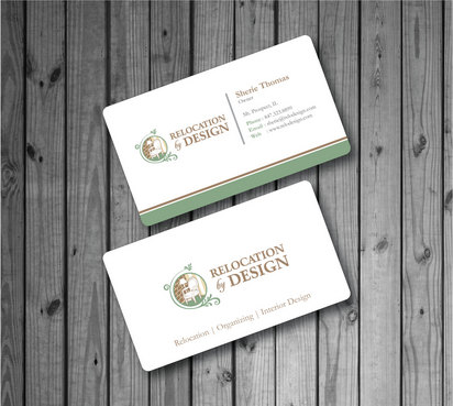 Business card for senior move management company Business Cards and Stationery  Draft # 68 by Hazik